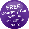 FREE courtesy car with all Insurance work